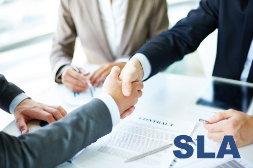 SLA. Service level agreement